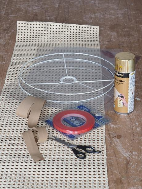 DIY Pantalla de lámpara de rejilla cannage_4