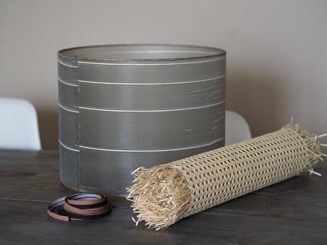 DIY Pantalla de lámpara de rejilla cannage_2