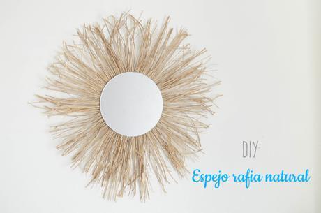 DIY: Espejo de rafia natural