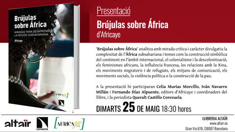 Presentación 'Brújulas sobre África' en Barcelona el próximo 25 de Mayo