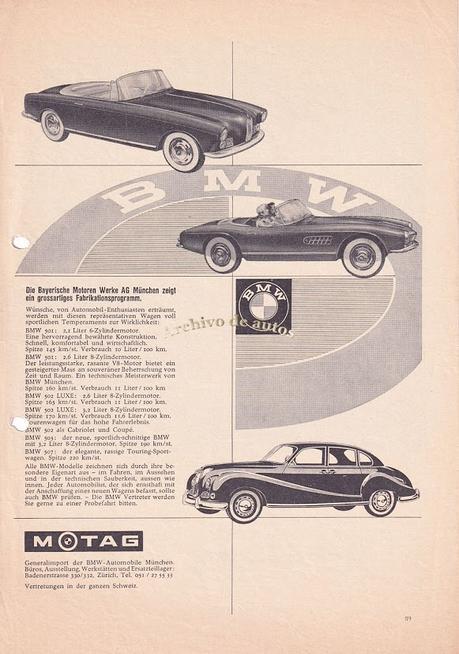 BMW y sus modelos de la línea 500 de la década del cincuenta