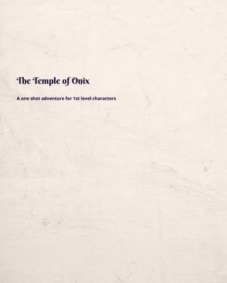 The temple of Onix, de Eoin J. Barry