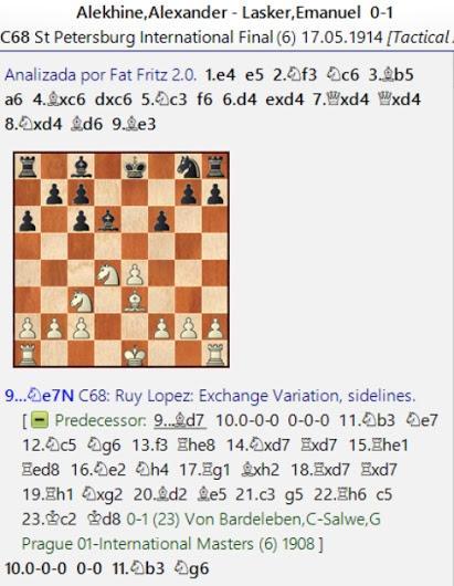 Lasker, Capablanca y Alekhine o ganar en tiempos revueltos (39)