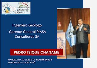 NOMINADOS PARA SER EL NUEVO COORDINADOR GENERAL DE LA IAPG PERÚ