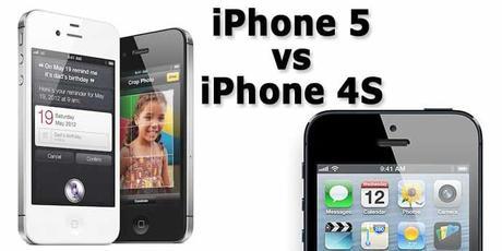 iphone 5 vs iphone 4s diferencias comparativas