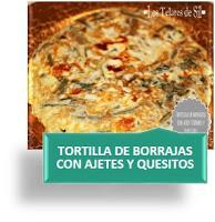 TORTILLA DE BORRAJAS CON AJETES Y QUESITOS