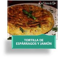 TORTILLA DE ESPÁRRAGOS Y JAMÓN