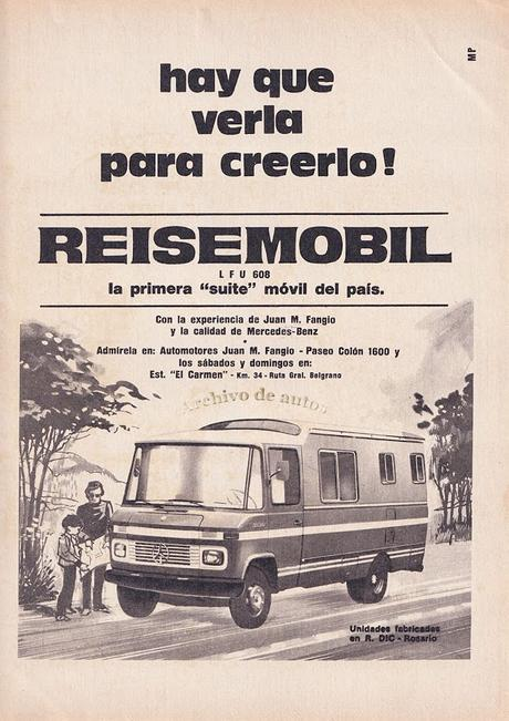 """Reisemobil, una """"motor home"""" sobre un Mercedes-Benz 608"""