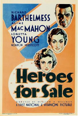 GLORIA Y HAMBRE (HEROER FOR SALE) (USA, 1933) Drama, Bélico, Social