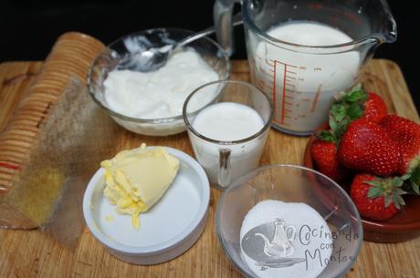Tarta de yogur y frutas sin horno