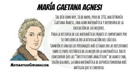 María Gaetana Agnesi nació un 16 de mayo