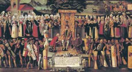 Besamanos Fernando Católico vizcaínos pintura Francisco Mendieta