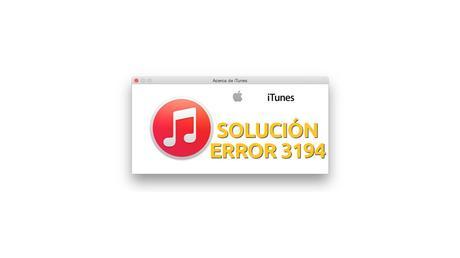 Error 3194 itunes iPhone iPad iPod Touch