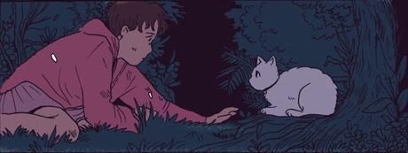 Niña y un gato
