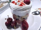 Trifle frutas rojas gluten lactosa. Juego blogueros