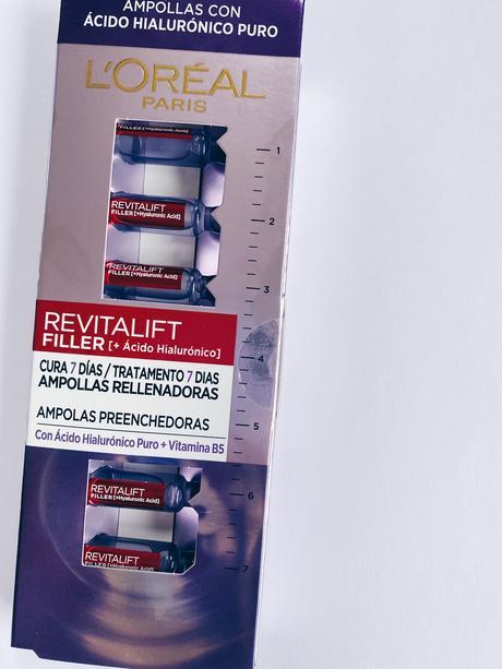 Ampollas de Ácido Hialurónico Revitalift y agua micelar, los lanzamientos de L'Oréal Paris.