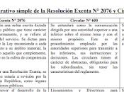 Propuesta análisis comparativo simple extinta Circular nueva normativa enmarcada Resolución Exenta 2076.