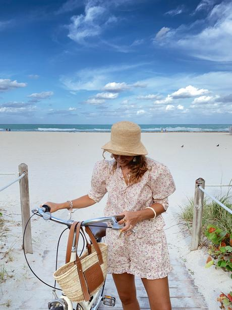 I'm wearing a summery alternative to mini dresses and one you can easily wear for picnics or casual activities like riding a bike to run your errands.