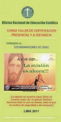 ONDEC PREPARA SEGUNDO CURSO TALLER DE CERTIFICACIÓN PARA COORDINADORES