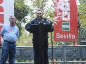 Concentración CCOO contra reforma Sevilla