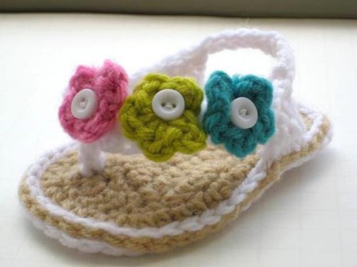 Sandalia de Crochet Baby Boutique