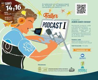 📢 Invitación al taller de Podcast I para emprendedores- 14 y 16 de junio de 19:30 a 21 horas.