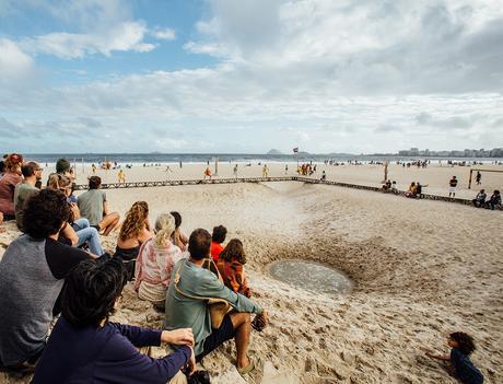 A praia e o tempo
