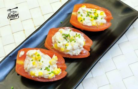 Tomates rellenos, un aperitivo frío delicioso