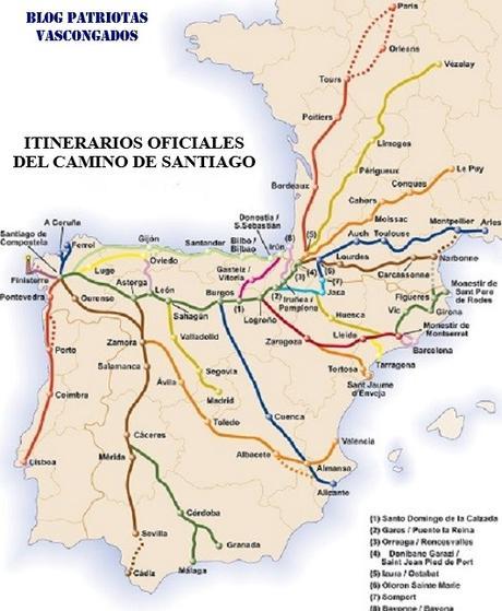ITINERARIOS DEL CAMINO DE SANTIAGO