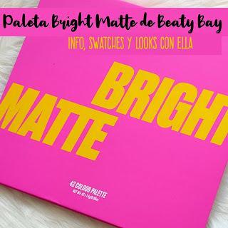 Paleta Brigh Matte de 42 sombras de Beauty Bay