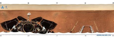 China publica nuevas imágenes de Zhurong en Marte