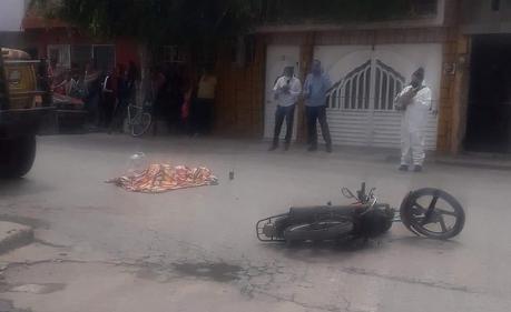 Fallece menor de 12 años abordo de motocicleta en la Santa Fe