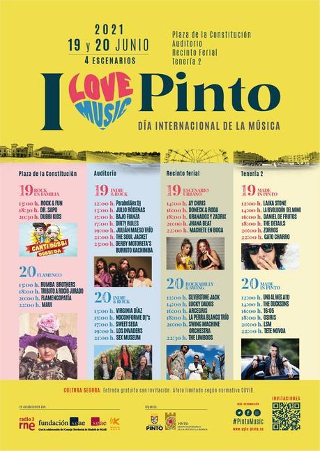 Conciertos gratis en Pinto por el Día de la Música