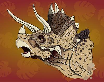 Las cabezas dinosaurianas de Vasiliy Genzeruk