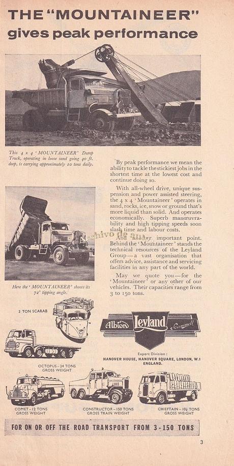 Scammell Mountaineer, un camión británico de doble tracción de 1957