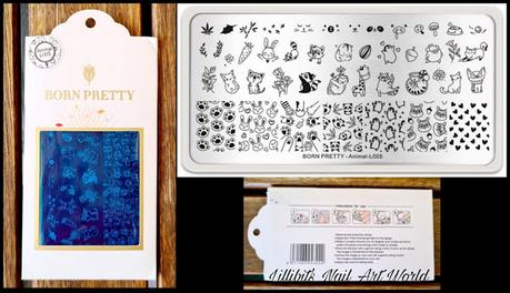 Ositos panda. Placa Born Pretty Animal L005