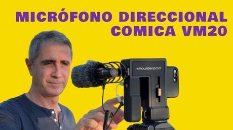 micrófono direccional Comica VM20
