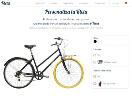 Kleta: tu propia bici por una suscripción mensual