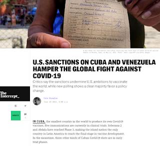 Sanciones vs Cuba y Venezuela obstaculizan lucha contra la Covid-19