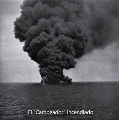 """EL PETROLERO """"CAMPEADOR"""" HUNDIDO POR UN DESTRUCTOR ITALIANO"""