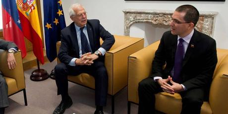 Jorge Arreaza conversó con Joseph Borrell sobre el proceso de diálogo en Venezuela