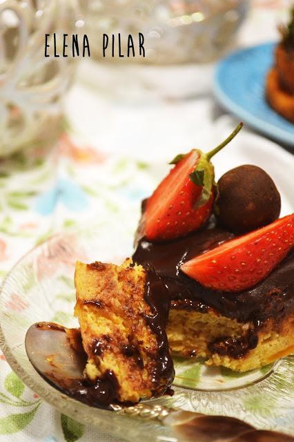 Pastel de calabaza y chocolate (sin gluten, sin azúcar y sin edulcorantes)