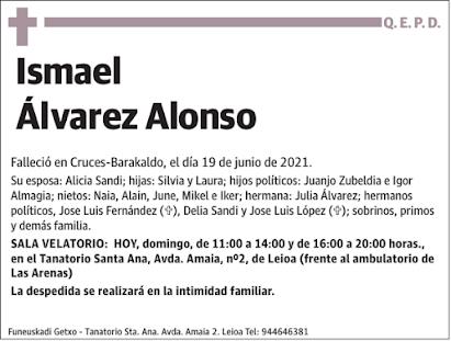 Ha fallecido nuestro compañero Ismael Álvarez