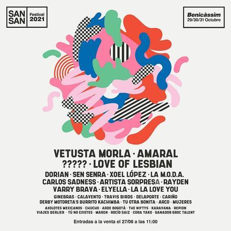 SanSan Festival 2021: cartel e información de entradas