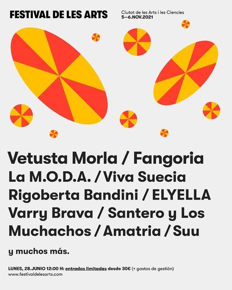 Festival de Les Arts 2021: fechas, entradas y cartel