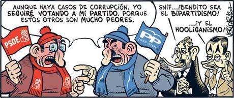 Malditos partidos políticos, verdugos de España y escuelas de ineptos y mediocres