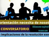 """Invitación Colegio Nacional Orientadores Chile Conversatorio sobre """"Las implicaciones resolución exenta 2076 Orientación Educativa."""""""