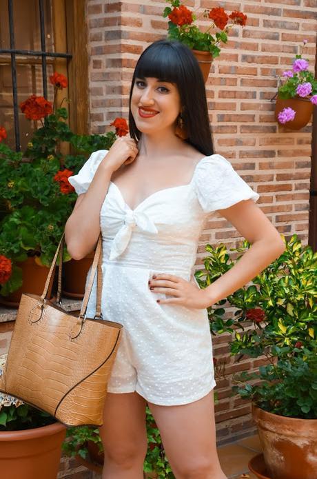 White romper | SHEIN Vacay Mode