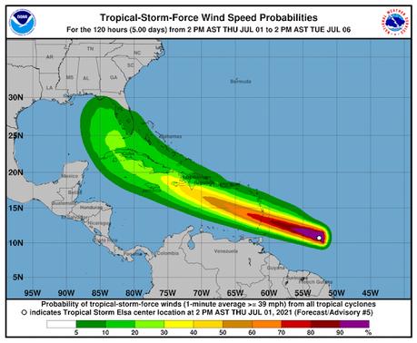 Ciclòn Elisa sigue trayectoria; RD emite vigilancia para costa sur.