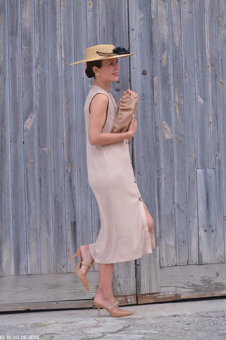 BEIGE DRESS. #PAMELASAHARA.